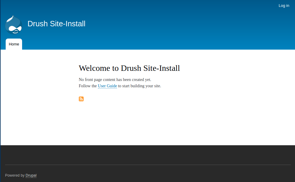 Tome module install, showing the default Drupal Bartik theme.